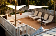 photo of private sundeck at alexanders guesthouse