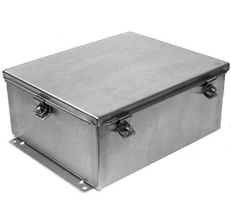 Adalet NEMA 4x JIC Stainless Steel Enclosure ​JN4XSS Lift Off Clamped Cover Enclosure