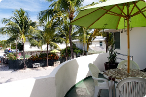 spectacular views from private balconies and sundeck at El Patio Motel