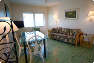 Available Apartments with Kitchen includes one bedroom, private bath, and sleeper sofa. Our rooms also feature original Cuban tile floors and jalousie windows. Make your reservation today 305-296-6531