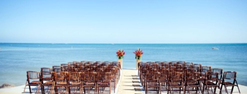 ceremony set up at southernmost house