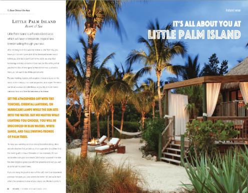 florida keys wedding magazine at little palm island