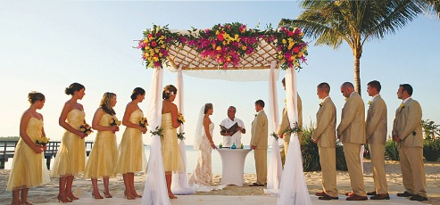 ceremony on the beach at marriott beachside