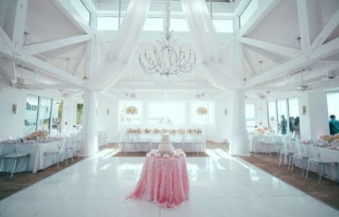 reception set up in the marquesa ballroom at the hyatt centric resort