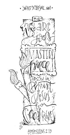 create masterpiece coloring pages | Sweet To The Soul Ministries - Bible Journaling Kit #1