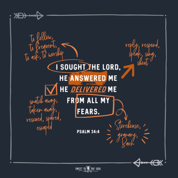 Verse Mapping Psalm 34:4