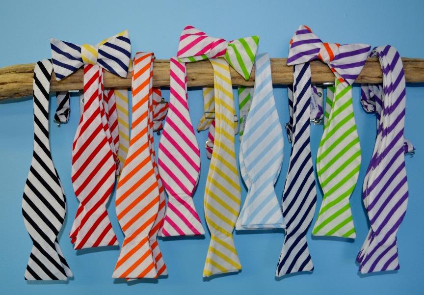 stripe bow ties