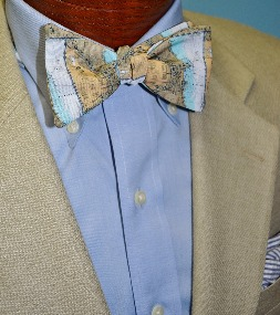 Chicago Harbor Map Bow Tie