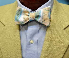Winyah Bay and Georgetown Map Bow Tie