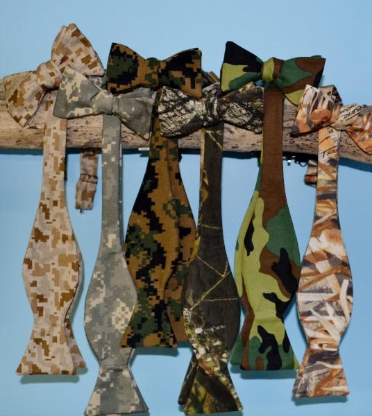 camo bow ties