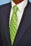 sharks tooth mens tie, green tie