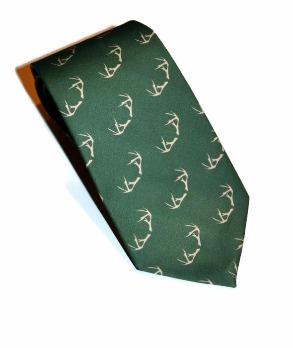 deer antlers green mens necktie