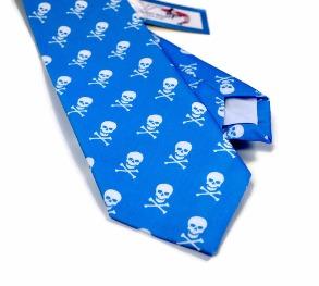skull and crossbones mens tie