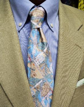 Charleston, sc map mens necktie, handmade necktie, preppy tie, southern tie, charleston