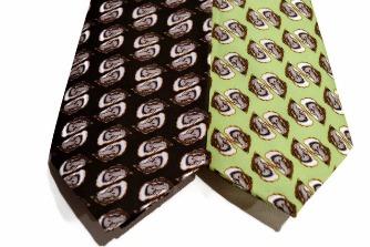 oyster shell necktie, black tie, green tie