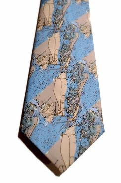 map tie, mens tie, mount pleasant