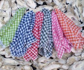 gingham pocket squares, red, green, blue, pink, orange