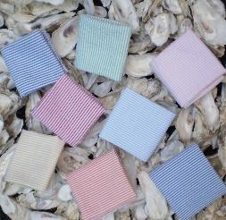 Classic Seersucker pocket squares, blue seersucker, red seersucker,