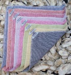 Seersucker Gingham Pocket Squares