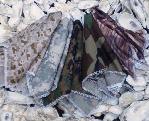 Camouflage pocket squares, army digital camo, dessert camo, forest camo, waterfowl camo, air force camo, woodland camo