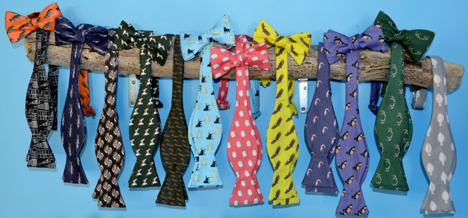 fall bow ties, dog bow ties, antlers, churches, bass, fish bow ties, eagle, duck, shrimp