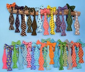 fish bow tie, adjustable bow tie, men