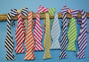 Stripe Bow Tie, men