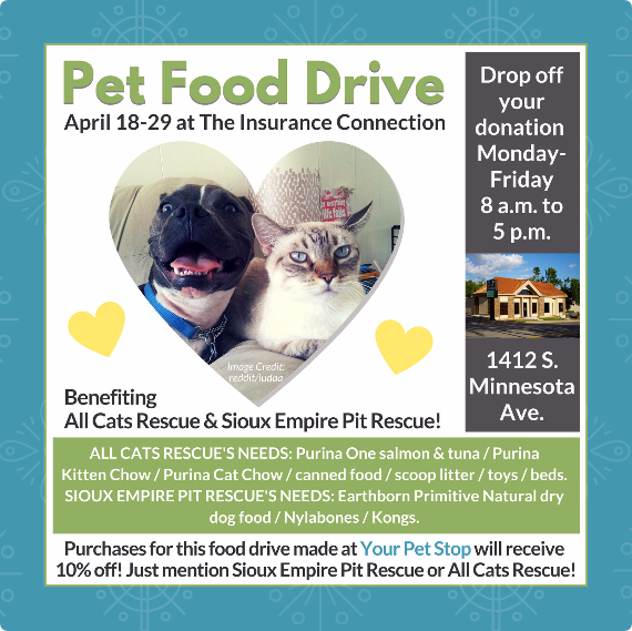 The Insurance Connection Pet Food Drive