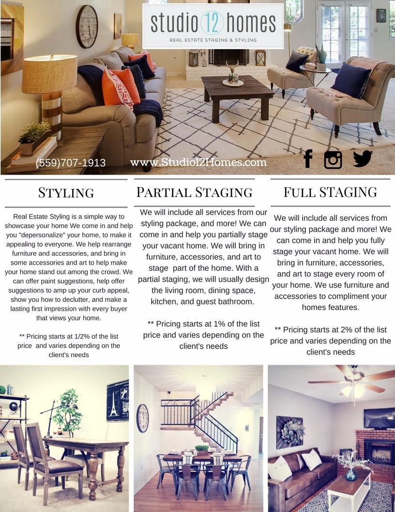 Home Staging Design Price List