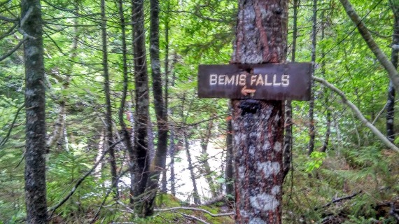 Bemis Falls Sign - White Mountains, New Hampshire
