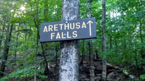Arethusa Falls Sign - White Mountains, New Hampshire