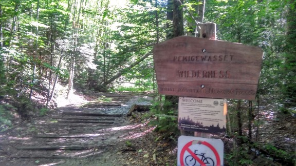 Lincoln Woods Trail - Pemigewasset Wilderness Sign