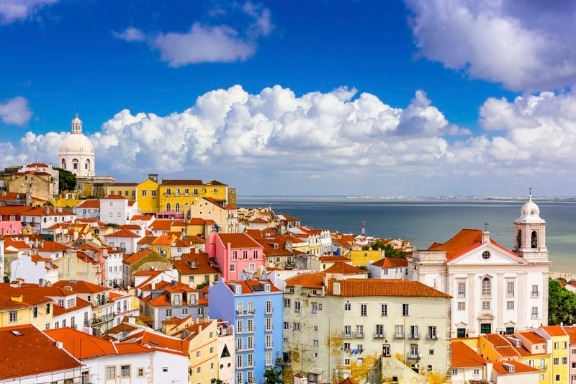 Picturesque buildings in Lisbon