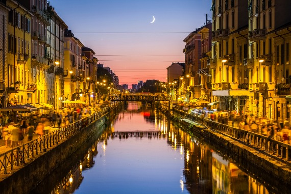 Milan at night
