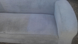 cleaned grey lounge chair