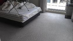 cleaned bedroom carpet