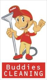 Buddies Cleaning logo man