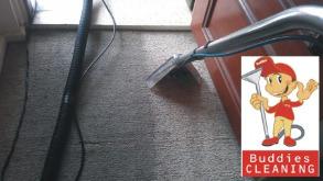 Buddies Carpet Cleaning front door logo
