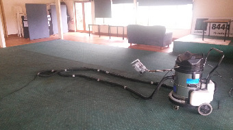 carpet extractor setup with scrubber