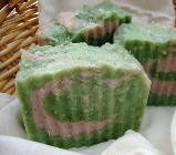 tomato vine and sweet pea gardeners soap