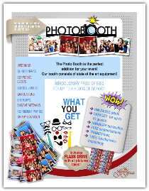 Photo booth flyer