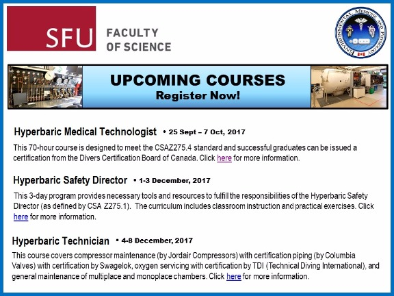 SAUHMA - Clinical Hyperbaric Technologist & Safety Director training ...