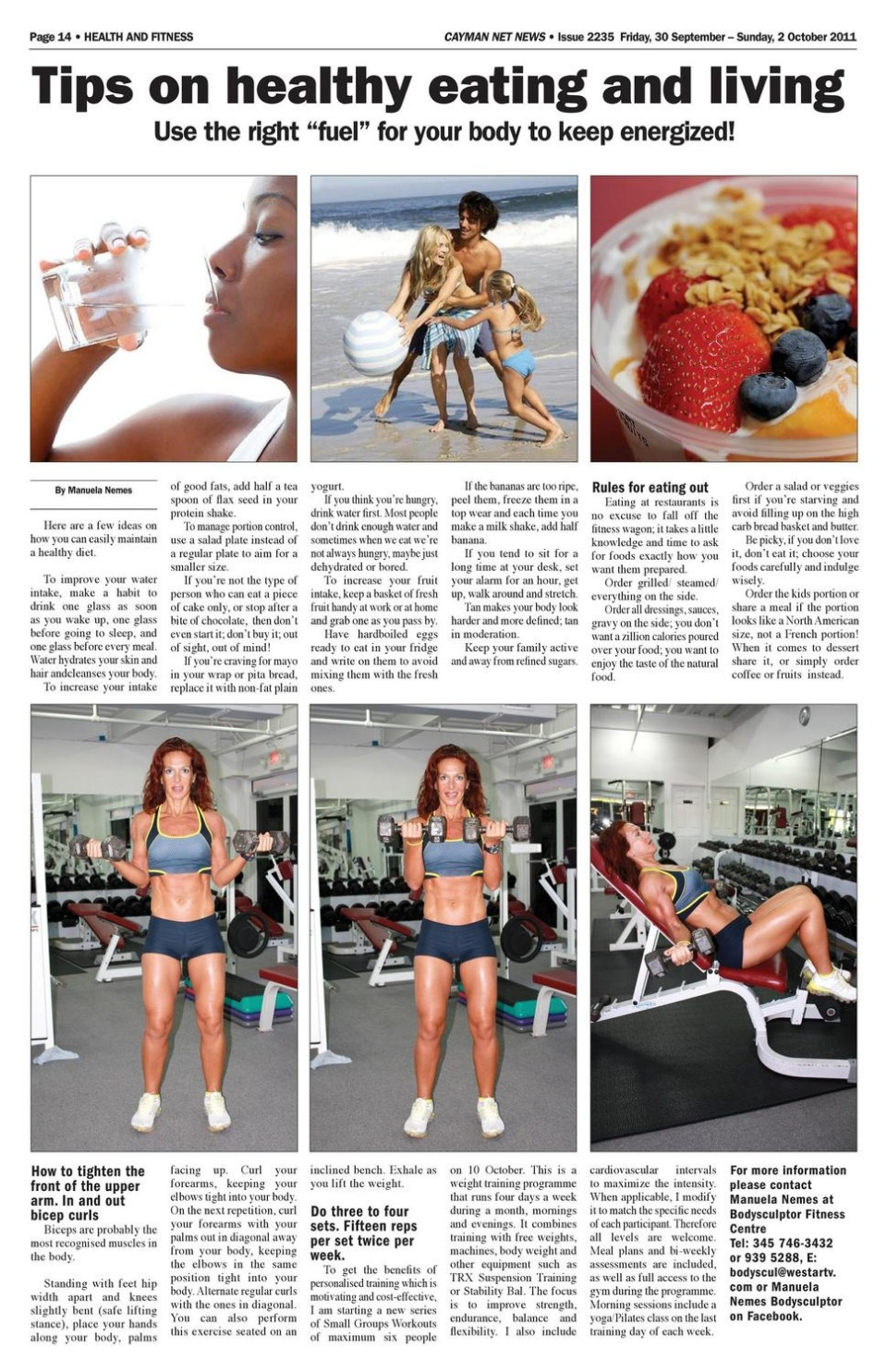 Manuela Personal Training In Cayman - Cayman Net News Archives