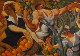 Orange Picking by Russ Flint