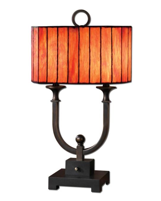 Sierra Wisteria Bellevue lamp, Sierra Wisteria art glass lamp