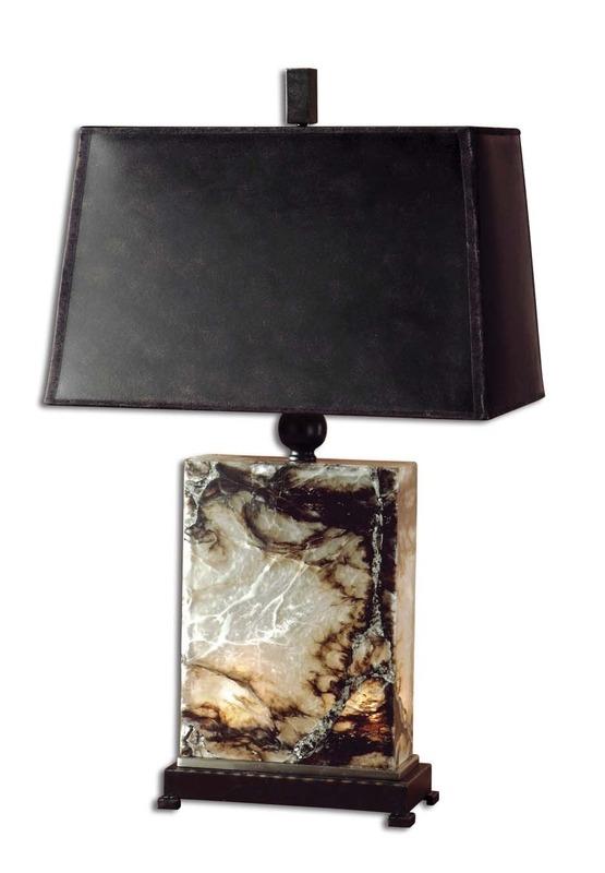Sierra Wisteria Marius lamp, Sierra Wisteria marble base lamp