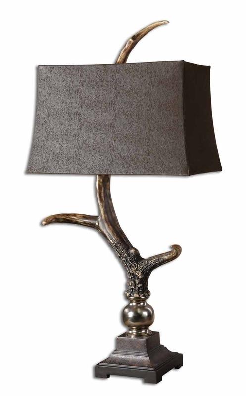 Sierra Wisteria large stag horn lamp, Sierra Wisteria deer horn lamp, Sierra Wisteria elk horn lamp