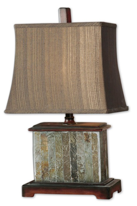 Sierra Wisteria small slate lamp