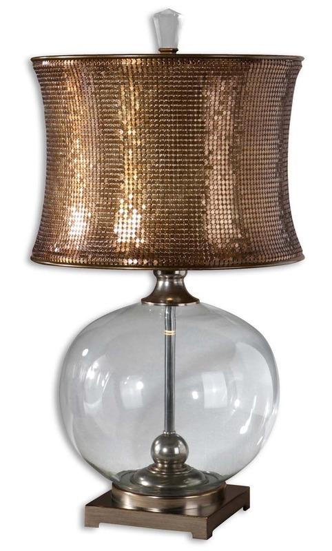 Sierra Wisteria Marcel Copper lamp