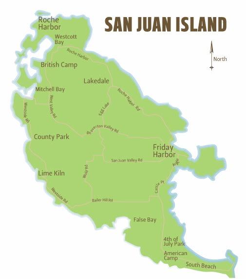 san juan island chamber of merce washington maps